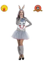 Adult Bugs Bunny Hooded Tutu Dress