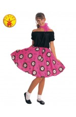 Ladies 1950s Hop Skirt Grease Poodle Sweetheart Bopper Costume