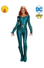 Ladies Sexy Deluxe Mera Aquaman Secret Wishes Film Hero Fancy Dress Costume Outfit