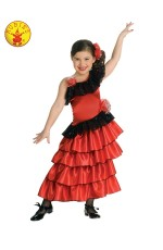 Kids Spanish Princess Flamenco Costume cl883053