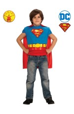 SUPERMAN MUSCLE CHEST CHILD COSTUME TOP cl885101