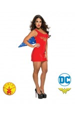 Ladies Halloween Rubie's Wonder woman Revenge Superhero girl Fancy Dress Costume Outfits