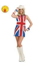 Ladies British invasion costume cl889703