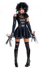 Edward Scissorhands Miss Scissorhands Fancy Dress Halloween Adult Rubies Licensed Costumes