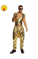 Mens Rapper Gold Pants