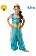 KIDS JASMINE LIVE ACTION ALADDIN COSTUME, CHILD
