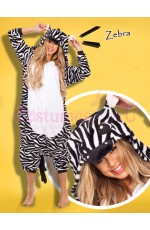 Zebra Onesie Animal Costume
