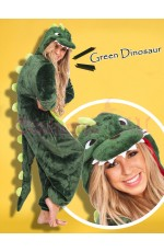 Green Dinosaur Onesie Animal Costume
