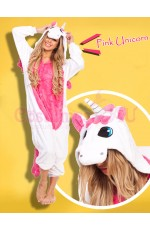 Pink Unicorn Onesie Animal Costume