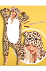 Leopard Bear Onesie Animal Costume