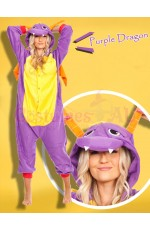 Purple Dragon Onesie Animal Costume