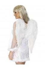 Feather White Angel Wings Angel Fairy Adults Fancy Dress Costume Halloween