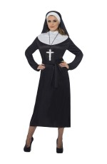 Adult Womens Nun Costume Mother Superior Erotic Nun Sister Religious Dress Up Women Fancy Dress Outfit