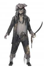 Mens Ghost Ship Ghoul Zombie Pirate Halloween Fancy Dress Horror Costume