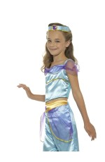 Girls Arabian Genie Aladdin Belly Costume Princess Jasmine Fairytale Dancer Book Week Party Outfit