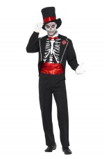 Mens Day of the Dead Skeletons Mexican Costume
