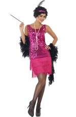 Licensed 1920s 20s Laides Funtime Flapper Great Gatsby Chicago Jazz Fancy Dress Up Costume Party
