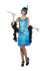 Licensed Flirty Flapper Adult Laides Gatsby Charleston Flapper Chicago 1920s 20s Jazz Fancy Dress Up Costume Party