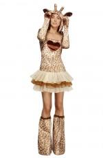 Fever Sexy Giraffe Safari Animal Jungle Zoo Bodysuit Catsuit Womens Ladies Fancy Dress Costume