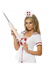 Plastic 54cm Jumbo Syringe Injectors Nurse Smiffys Fancy Dress Halloween Costume Accessory