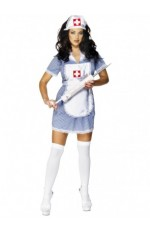 Smiffys Licensed Ladies Nurse Uniform Doctor Medical Fancy Dress Up Hens Party Costume Outfit