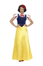 Adult Ladies Princess Snow White Fairy Tale Book Week Fancy Dress Halloween Party Costume