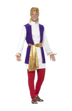 Adult Mens Arabian Prince Costume Aladdin Storybook Film Shiek Desert Sultan Arab Night Fancy Dress