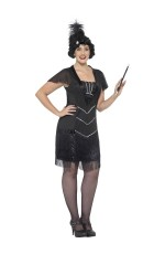 Plus Size Curves Glamour Gatsby Flapper Charleston Chicago 20s Costume