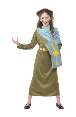 Kids Horrible Histories Boudica Girls Queen Historical World Book Week Fancy Dress Kid Costume Outfit