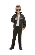 Boys T-Birds Gang Rock Jacket 1950 50s Black Grease Danny T bird Tbird Costume