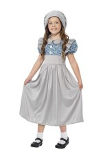 Victorian School Girl Costume Child Historical Book Week Fancy Dress Kids Outfit Olden Day School