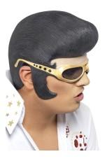 ELVIS Headpiece Rock n Roll The King 1950s Mens Wig Glasses