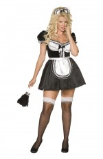 Adult Womens Envy Black Sexy French Maid Costume Sexy Room Services Occupation Dress Up Hens Night Midnight Maid Halloween Smiffys Fancy Dress