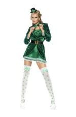 Womens Sexy Fever St Patrick's Paddys Day Costume Green Outfit Irish Fancy Dress