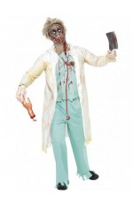 Zombie Scary Hospital Doctor Medical Surgeon Smiffys Fancy Dress Halloween Bloody Costume