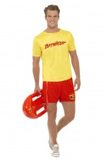 Mens Baywatch Beach Lifeguard Costume