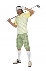 Mens Gone Golfing Golfer Pub Golf Stag Night Fancy Dress Costume Adult Outfit
