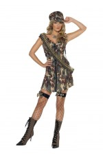 Fever Army Girl Military Costume