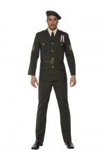 Mens Wartime Officer Army Costume