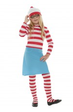 Wenda Waldo Wheres Costume Girls Kids Where's Wally Fancy Dress Book Week
