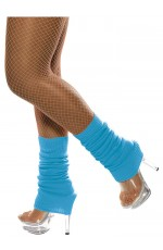 Licensed Womens Pair of Party Legwarmers Knitted Neon Dance 80s Costume Leg Warmers