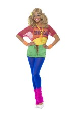80's Let's Get Physical Girl Neon 1980s Workout Sports Aerobics Ladies Womens Olivia Newton John Fancy Dress Costume