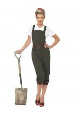 Ladies WW2 Land Girl 40s Army Costume