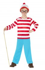 Where's Wally Boy's Costume CHILD Fancy Dress