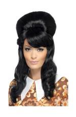Black 60's Brigitte Bouffant Wig cs41410