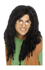 Reggae Black Dreadlocks Wig Rasta Jamaican Bob Marley Costume Accessory