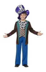 Deluxe Mad Hatter Alice Fancy Costume Boys Child Kids Book Week Storybook Fairytale in Dress Up wonderland