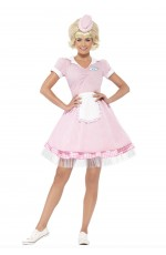 50's Diner Girl Ladies 1950s Fancy Dress Rock n Roll Grease 50s Costume