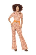 70s 1970s Authentic Chic Retro Jumpsuit Hippie Tragic Disco Retro Fancy Dress Costume