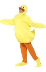 Unisex Duck Yellow Animal Bodysuit Fancy Dress Up Party Jumpsuit Onesies Costume
